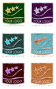 Colorful logos for business cards a series or collection of artistic or advertisements Royalty Free Stock Photos