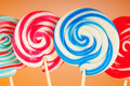 Colorful lollipop Stock Photos