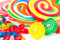 Colorful lollipops macro shot of Royalty Free Stock Images