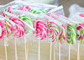Colorful lollipops in plastic wrap Stock Image