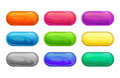Colorful long horizontal glossy buttons Royalty Free Stock Photo