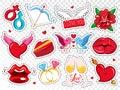 Colorful Love Badges Set