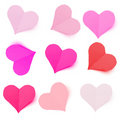 Colorful love hearts Royalty Free Stock Photography