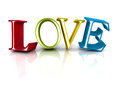 Colorful LOVE Word Letters On White Background