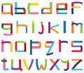 Colorful lower case alphabet Royalty Free Stock Images