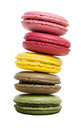 Colorful macaron isolated on white background with clipping path Royalty Free Stock Photography
