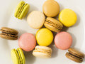 Colorful macarons french sweet dessert Stock Photography