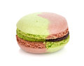 Colorful macaroon isolated on white background Royalty Free Stock Image