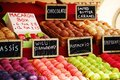 Colorful macaroons in a camden market stall Royalty Free Stock Photography