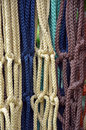 Colorful macrame braided pattern handicraft Stock Images