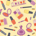 Colorful make-up seamless pattern Stock Images