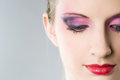 Colorful makeup. Royalty Free Stock Photography