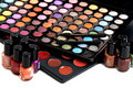 Colorful makeup kit Royalty Free Stock Photography