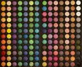 stock image of  Colorful makeup set of eye shadows background