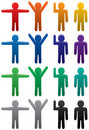 Colorful man symbols Stock Images