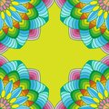 Colorful mandala corners template for decorations