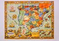Colorful map of Spain with regions in Segovia