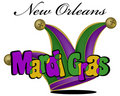 Colorful Mardi Gras poster in vector Royalty Free Stock Image
