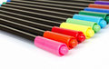 Colorful marker pens on white background Stock Photography