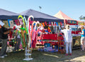 Colorful market stalls country in mollymook nsw south coast australia Royalty Free Stock Image