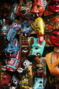 Colorful Masks at the Market in Antigua Stock Images