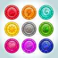 Colorful Medallions With Natur...
