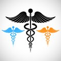 Colorful medical sign caduceus illustration of Stock Photo