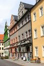 Colorful ancient street in Unesco city of Weimar, Germany Royalty Free Stock Photo