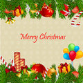 Colorful merry christmas card Royalty Free Stock Images