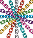 Colorful metal chains
