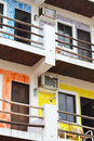 Colorful Mexican apartments Stock Photo