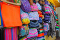 Colorful Mexican blankets Royalty Free Stock Photo