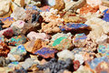 Colorful minerals on moroccan market Royalty Free Stock Photography