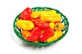 Colorful mini peppers orange yellow and red bell Royalty Free Stock Images