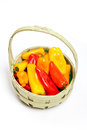 Colorful mini peppers orange yellow and red bell Royalty Free Stock Photography
