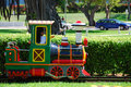 Colorful miniature train Stock Photography