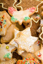 Colorful mix of christmas cookies Royalty Free Stock Image