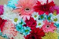 Colorful mixed bouquet with various spring flowers Royalty Free Stock Photo