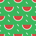 Colorful modern flat design watermelon summer seamless pattern background Royalty Free Stock Photo