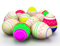 Colorful modern painted Easter eggs Stock Photo