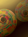 Colorful mosaic abstract spiral Stock Photos