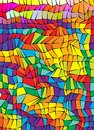 Colorful mosaic abstract vector polygon background A4 format