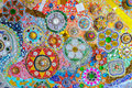 Colorful mosaic art and abstract wall background. Royalty Free Stock Photo