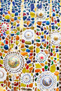 Colorful mosaic art abstract wall background Royalty Free Stock Photo