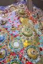 Colorful mosaic tiles and pottery items at Wat Pha Sorn KaewWat Phra Thart Pha Kaewin Khao Kho,Phetchabun,north-central Thailand Royalty Free Stock Photo