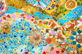 Colorful mosaic wall Royalty Free Stock Photo