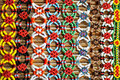 Colorful murut beading work on display Stock Photography