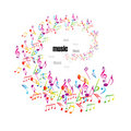 Colorful music background with clefs Royalty Free Stock Photo