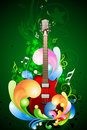 Colorful music card Royalty Free Stock Images