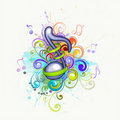 Colorful music notes Stock Photography